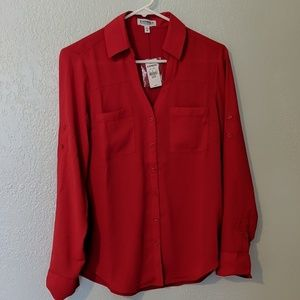 Express portofino shirt in red